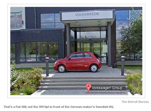 FIAT picture on google streets for VW headquarters