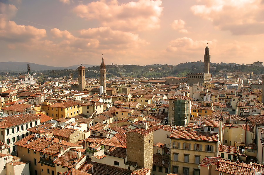 An aerial view of Florence Italy