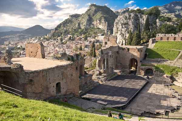 Greek Roman theater in Taormina, Sicily