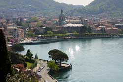 Lake Como or Lago di Como in Italia