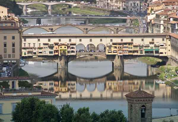 The famous Ponte Vecchio in Florence
