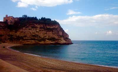 Picture of the beach in Tropea, Calabria